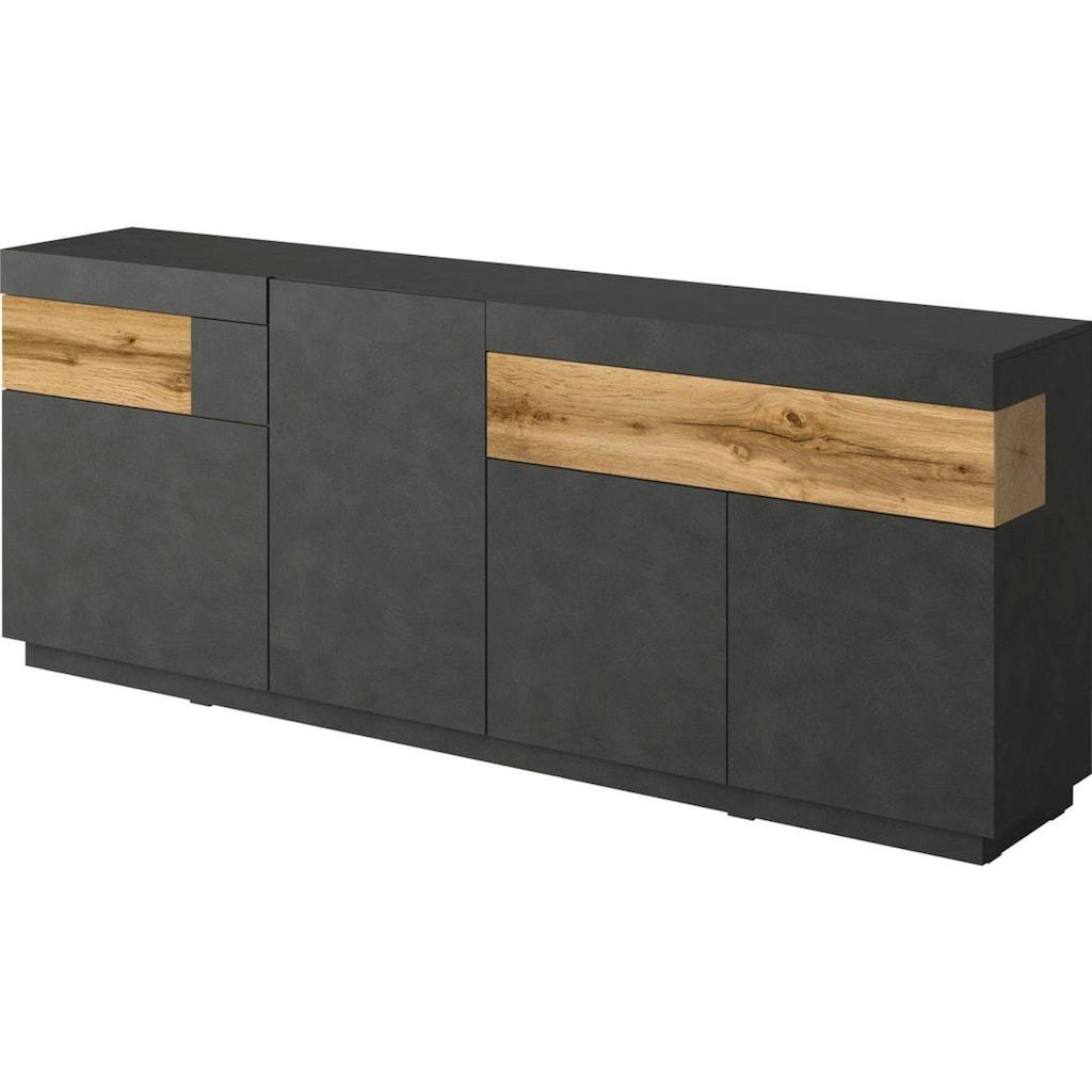 TRENDMANUFAKTUR Sideboard »SILKE«, Breite 218, 5 cm