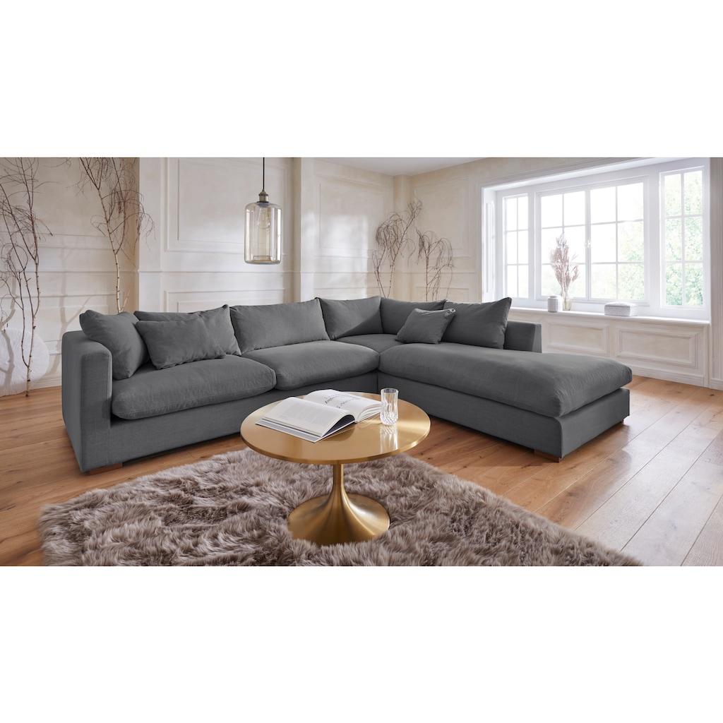 Guido Maria Kretschmer Home&Living Ecksofa »Pantin«, extra weich und kuschelig, Füllung mit Federn und Daunen