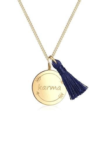 Elli Collierkettchen »Tassel Karma Anhänger Wordings Boho 925 Silber« kaufen