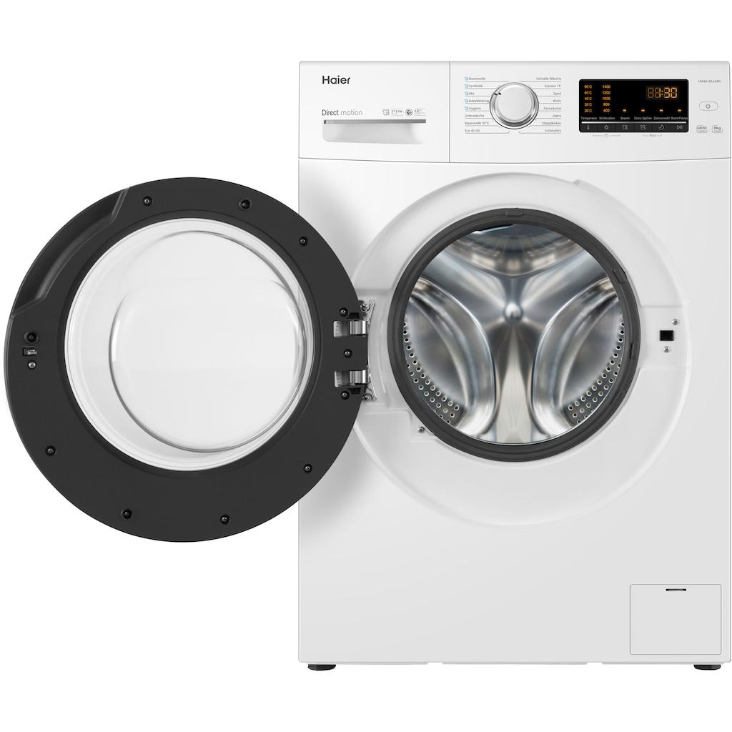Haier Waschmaschine »HW80-B1439N«, HW80-B1439N, 8 kg, 1400 U/min