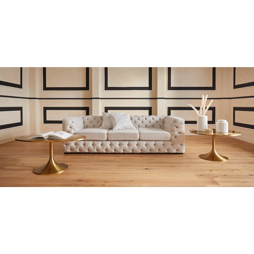 Guido Maria Kretschmer Home&Living Couchtisch »Goldless«, 1,8 cm starke Tischplatte aus Edelstahl, oval