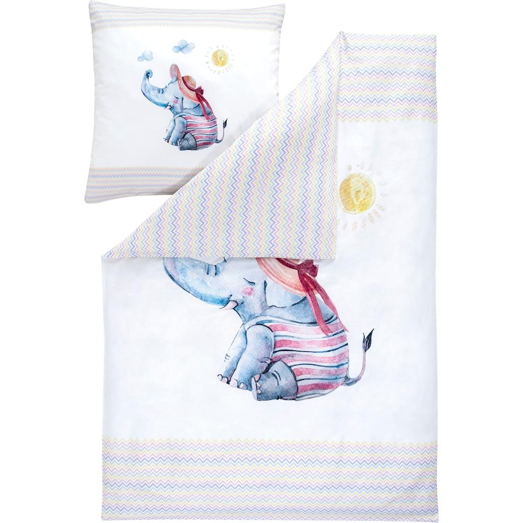 Estella Kinderbettwäsche »WILLY«, mit niedlichem Elefanten
