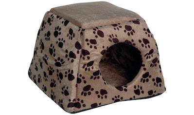 Dobar Hundehöhle und Katzenhöhle , B/L/H: 40/40/30 cm, dunkelbraun/grau kaufen