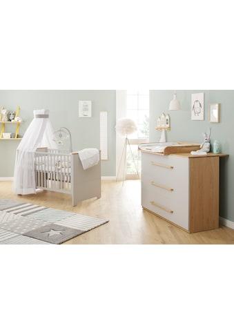 Lüttenhütt Baby Babymöbel-Set »Lauris, grau/eiche«, (Spar-Set, 2 St.), FSC®-Holz aus... kaufen