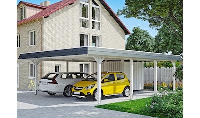 SKANHOLZ Doppelcarport »Wendland«, BxT: 630x879 cm, mit Abstellraum kaufen