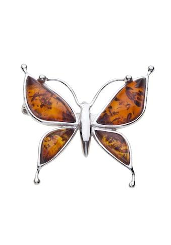 OSTSEE-SCHMUCK Brosche »- Schmetterling - Silber 925/000 - Bernstein« kaufen