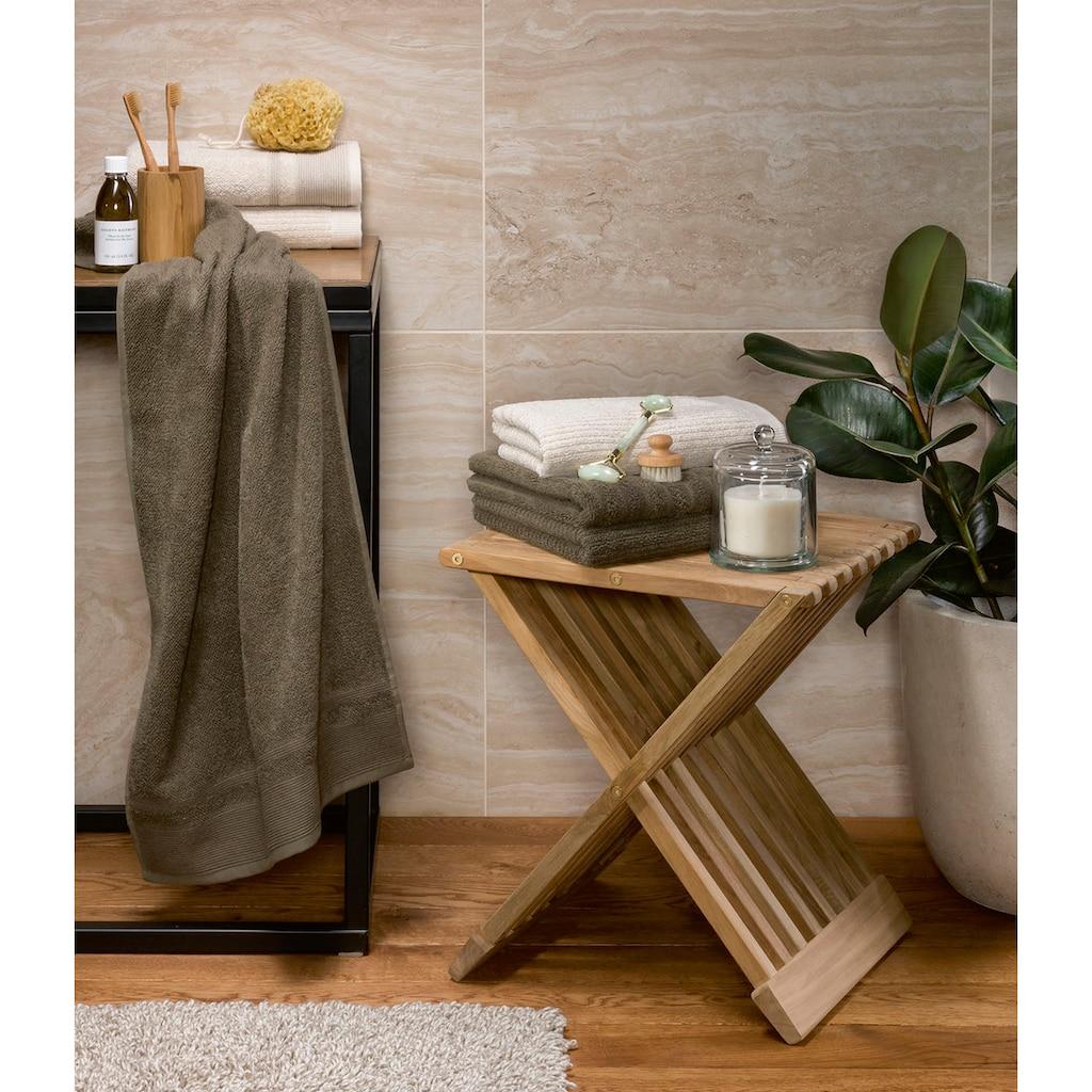 Möve Duschtücher »Wellbeing«, (1 St.), aus Bio-Baumwolle und Leinen