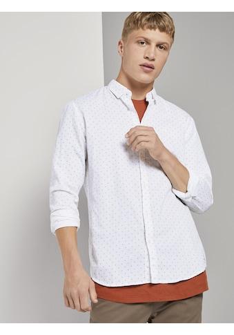 TOM TAILOR Denim Langarmhemd »Fein gemustertes Hemd« kaufen
