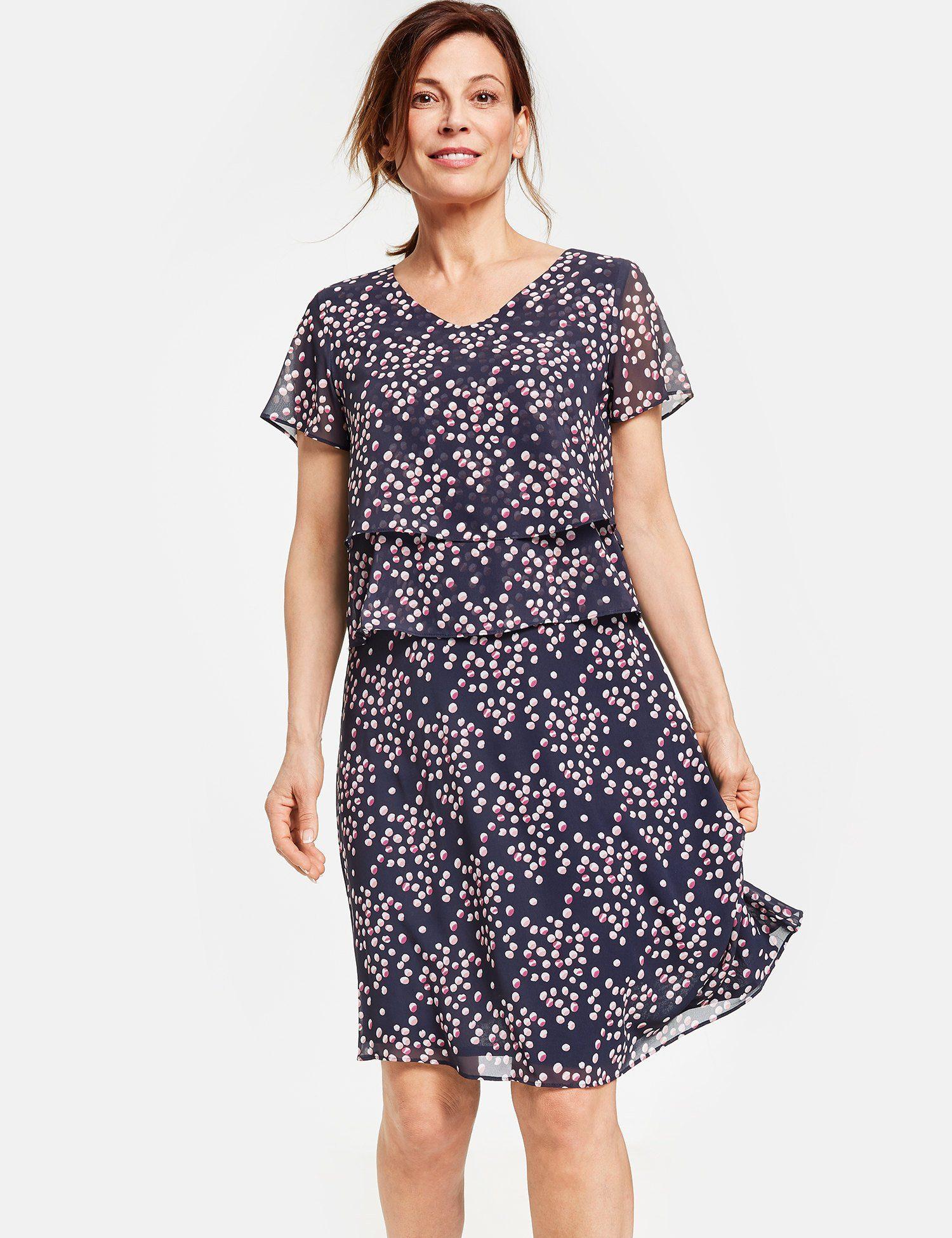 GERRY WEBER Kleid Gewebe Kleid mit Überwurfeffekt