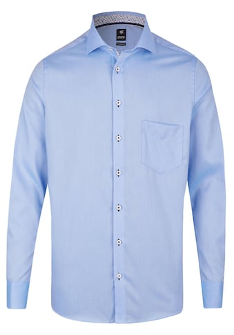 Pure Unifarbiges City Baumwollhemd Langarm kaufen