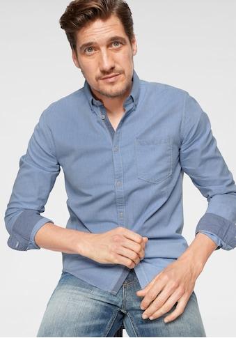 TOM TAILOR Langarmhemd, mit feinem Muster kaufen