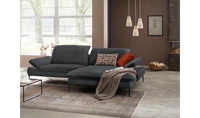 W.SCHILLIG Ecksofa »enjoy&MORE«, mit Sitztiefenverstellung, Füße schwarz pulverbeschichtet, Breite 294 cm kaufen