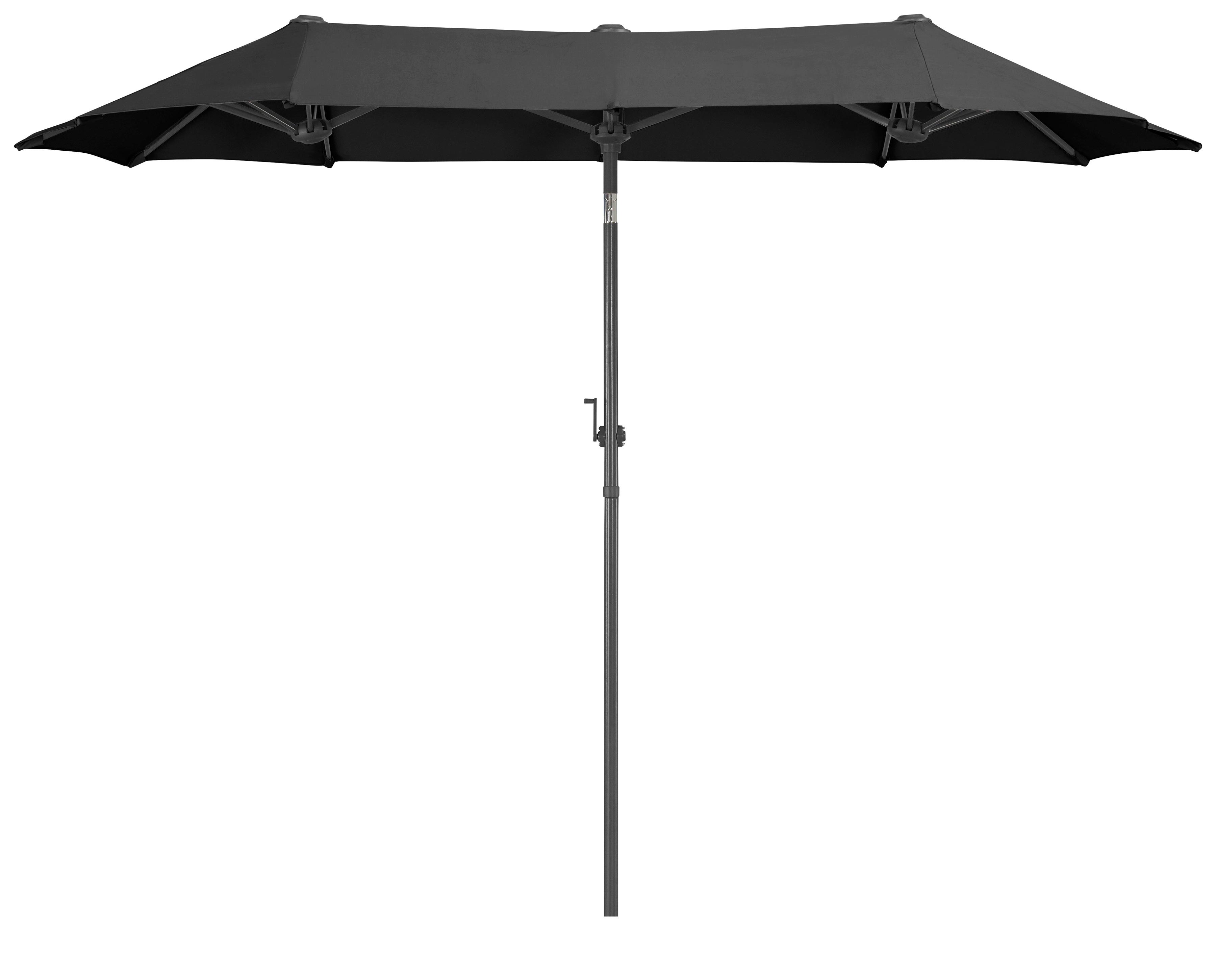 garten gut Sonnenschirm Malaga, Inkl. Schutzhülle, ohne Schirmständer grau Sonnenschirme -segel Gartenmöbel Gartendeko