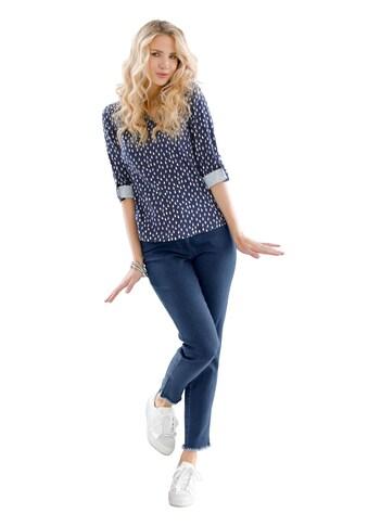 Classic Basics Jeans mit Fransen kaufen