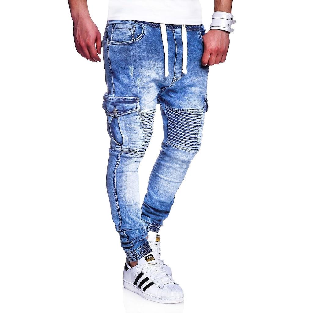behype Slim-fit-Jeans »MORI«, im Jogger-Stil