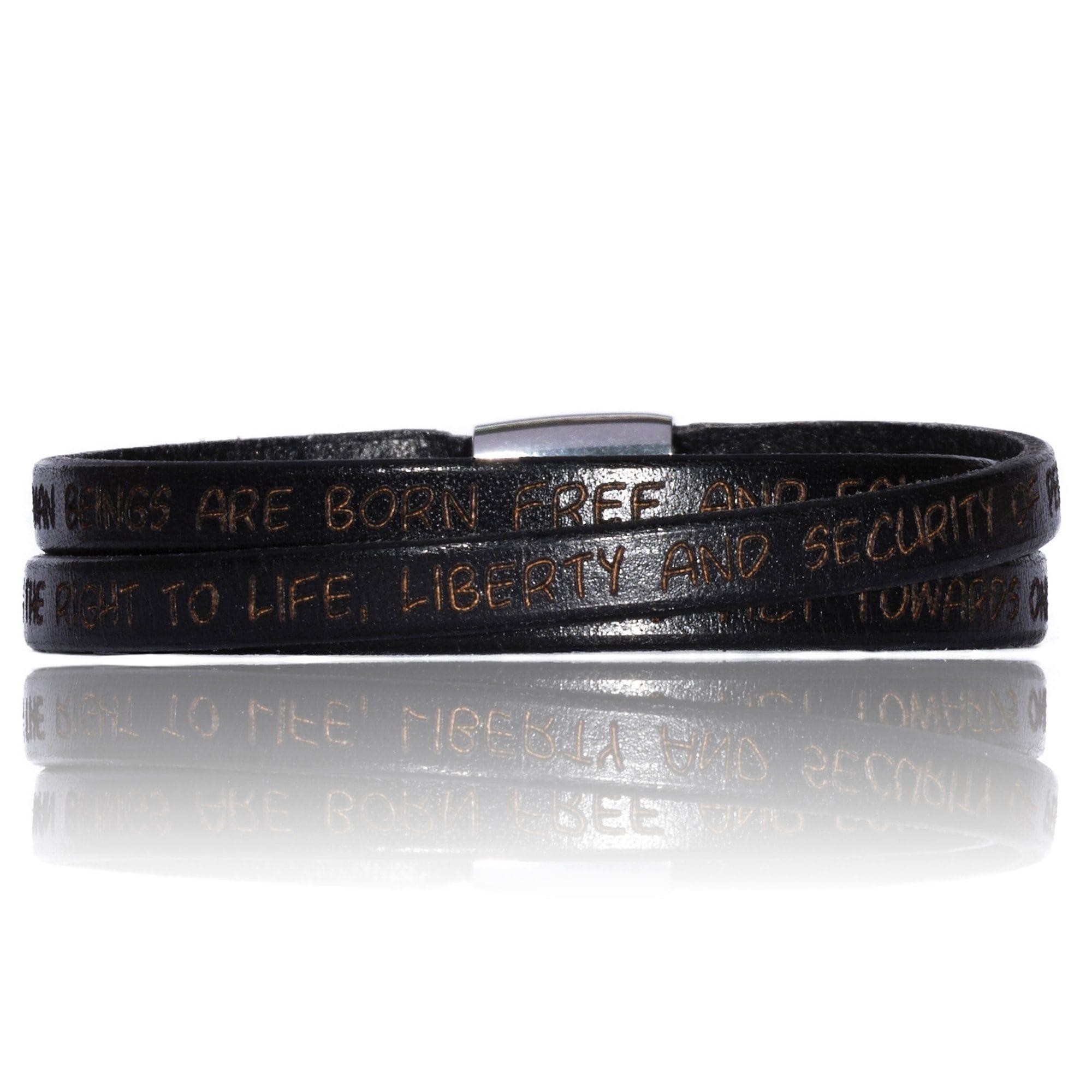 Gilardy Armband Edelstahl Leder | Schmuck > Armbänder | Schwarz | Leder | Gilardy