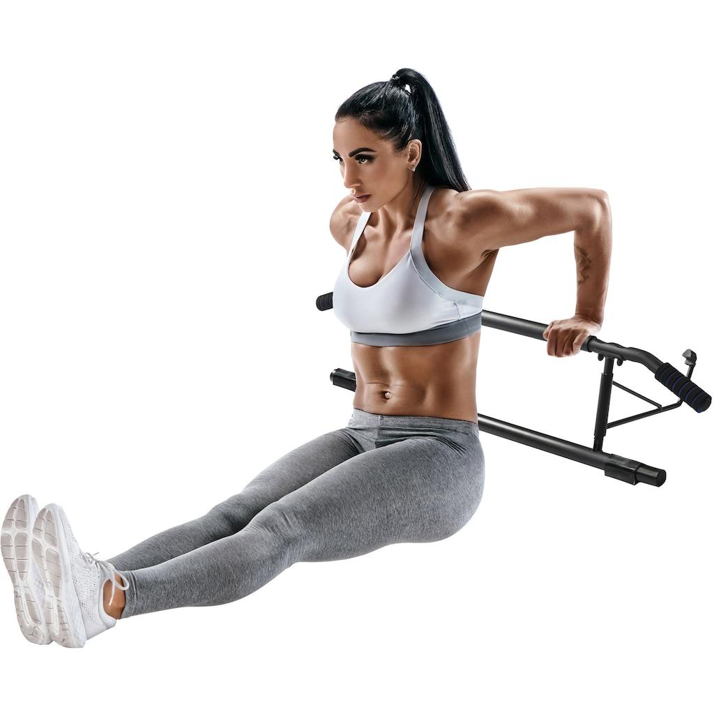 body coach Türreck »Multi-Türreck 3-in-1 Trainingsgerät Klimmzugstange Oberkörpertrainer Liegestützhilfe Dip-Trainer«, multifunktional, 3 Fitnessgeräte in einem