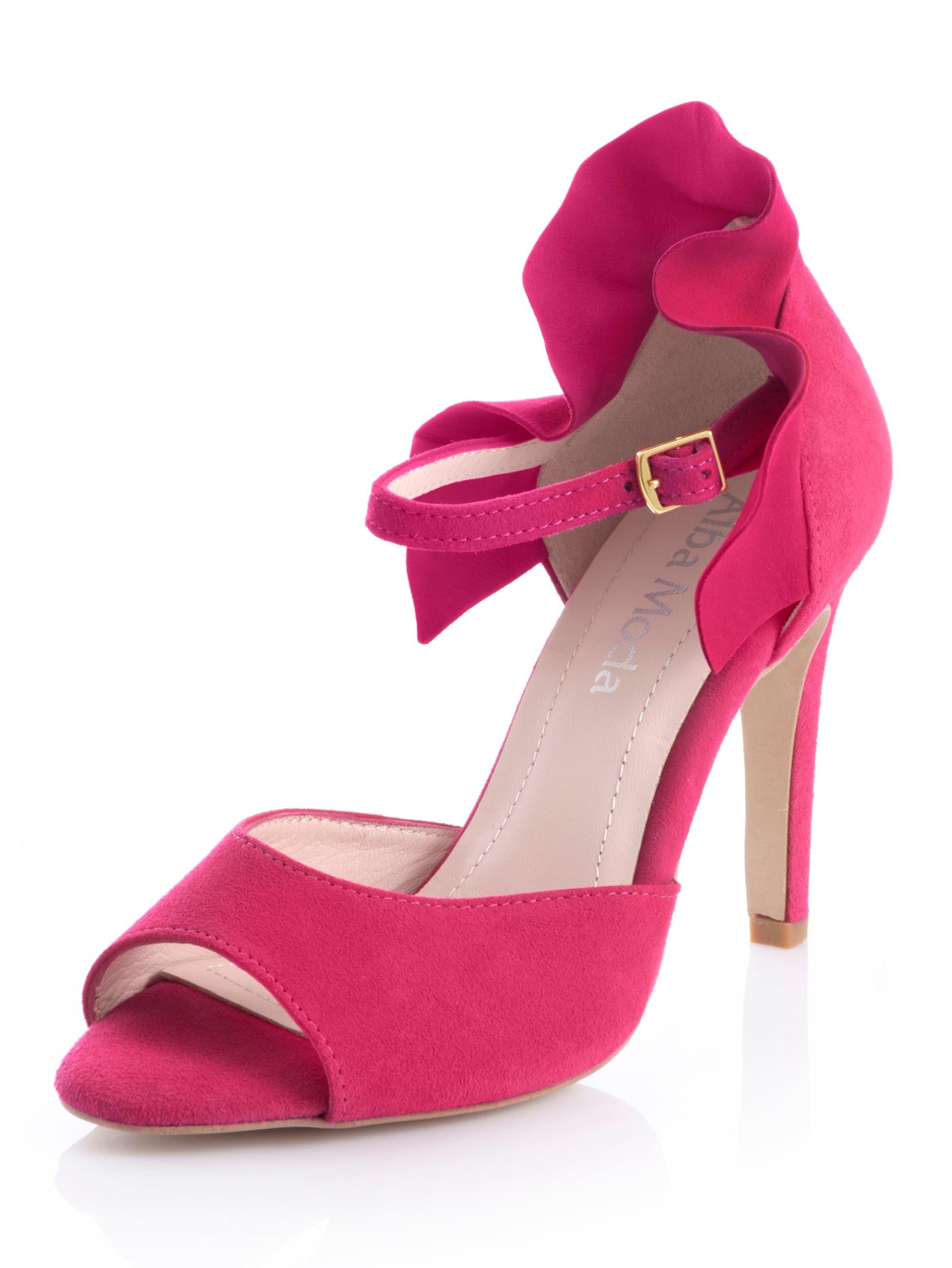 alba moda -  Sandalette, mit Volants-Detail