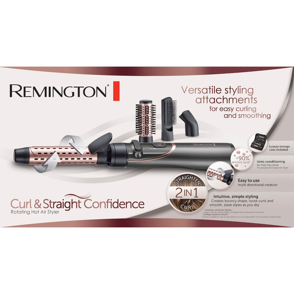 Remington Warmluftbürste »AS8606«, 4 Aufsätze}, Curl & Straight Confidence 3-in1 Ionen Styler