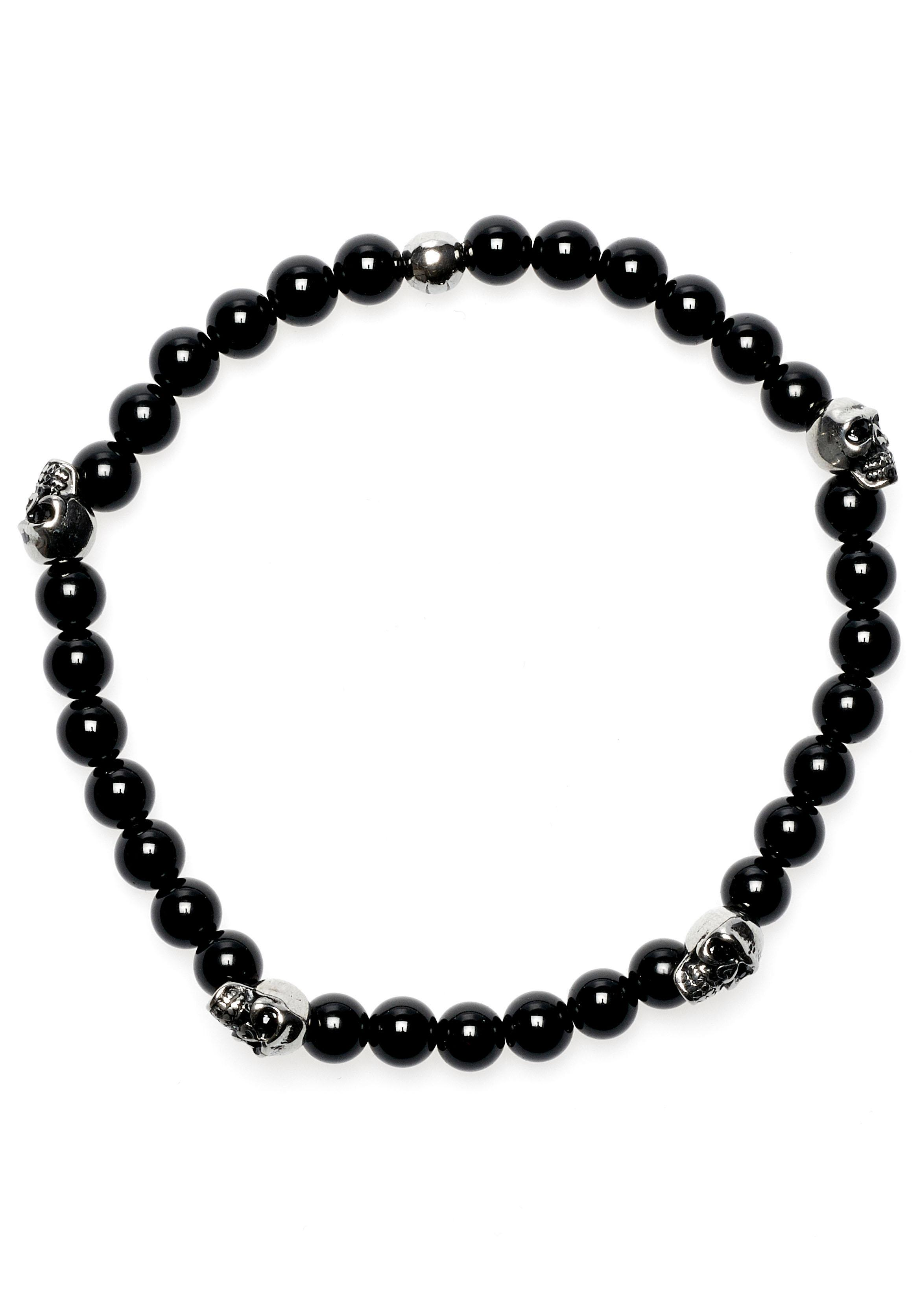 ROYAL EGO Armband Totenkopf - Lava Bead Skull black silver 1710 | Schmuck > Armbänder > Sonstige Armbänder | Royal Ego