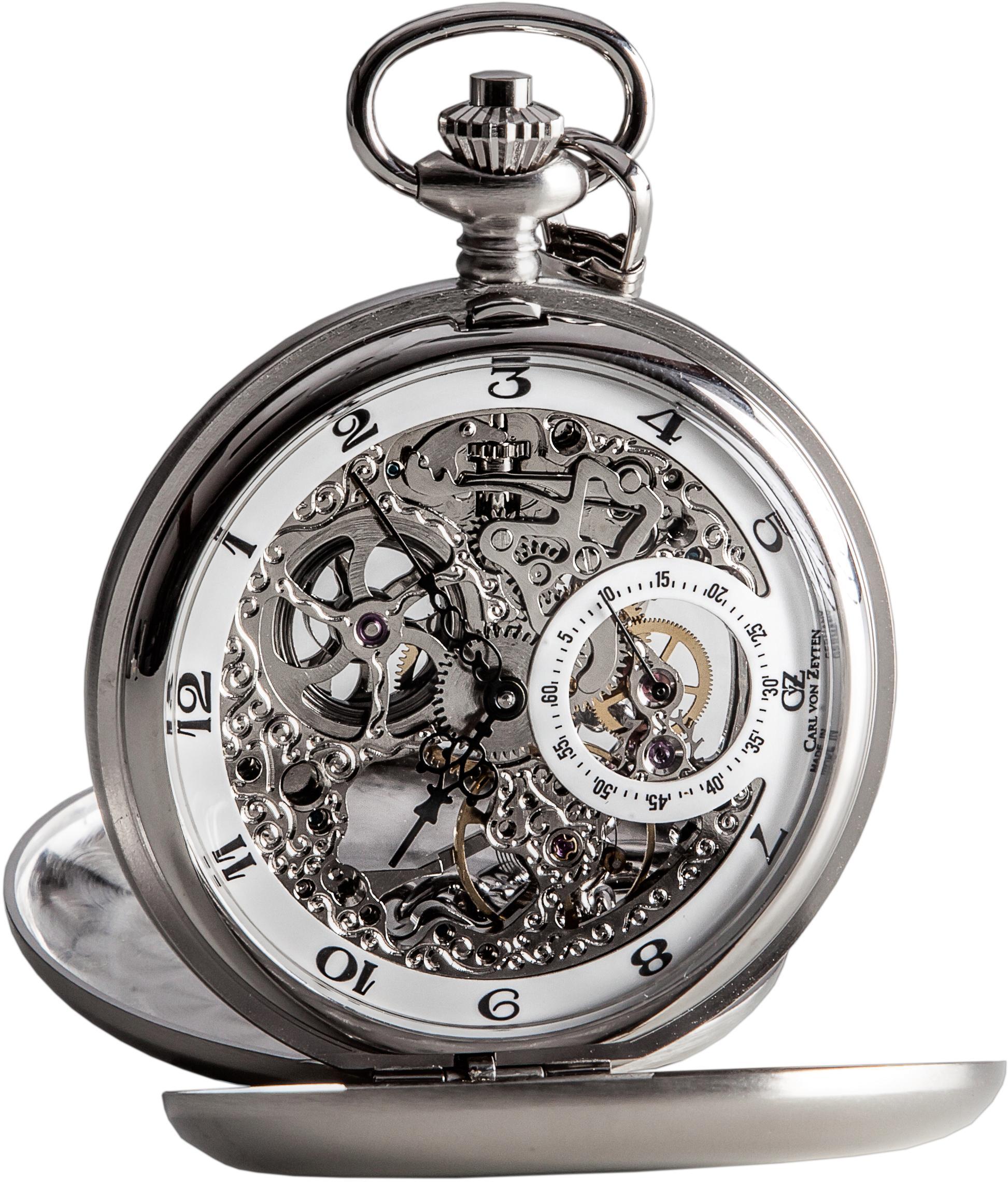 Carl von Zeyten Taschenuhr Bräg CVZ0039WH (Set 2 tlg inkl Kette) | Uhren > Taschenuhren | Carl Von Zeyten