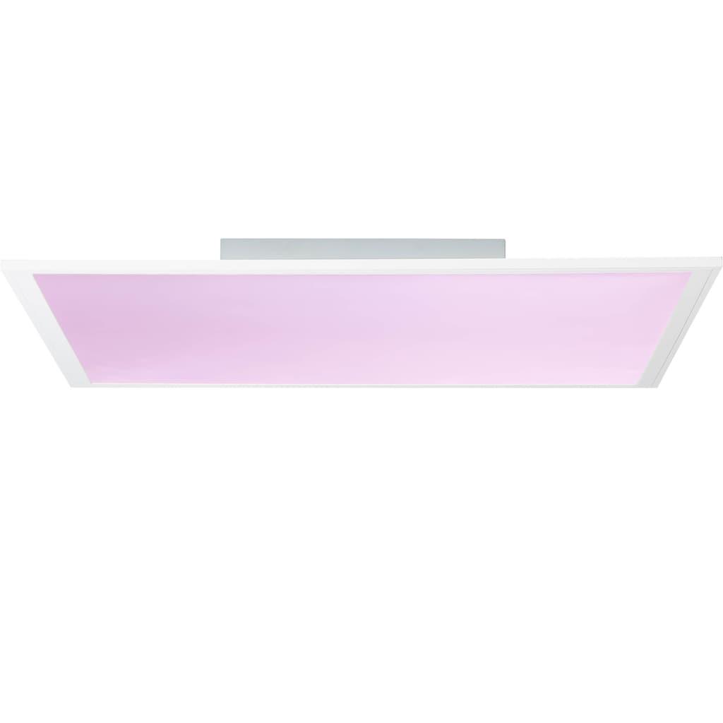 Brilliant Leuchten Abie LED Deckenaufbau-Paneel 60x60cm RGB weiß