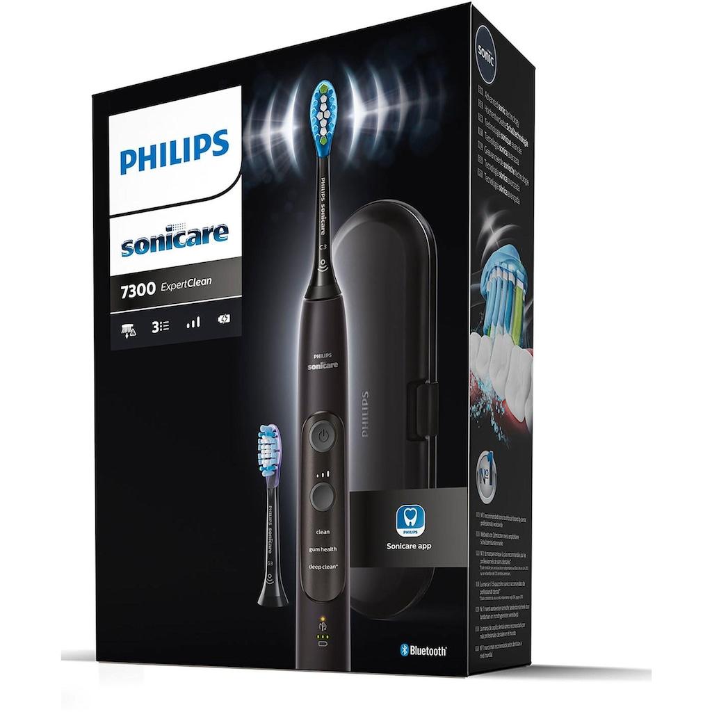 Philips Sonicare Elektrische Zahnbürste »HX9601/02«, 2 St. Aufsteckbürsten, ExpertClean 7300 Schallzahnbürste