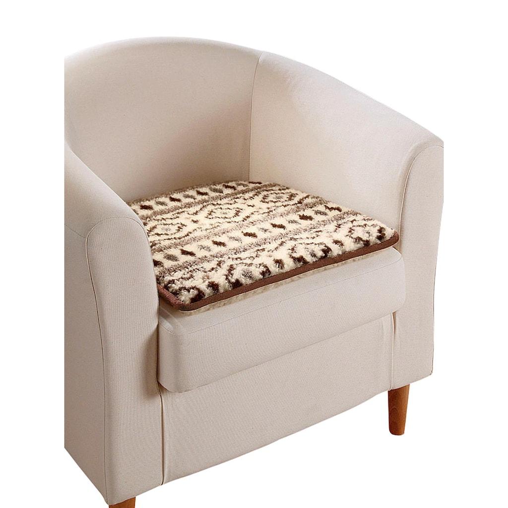 Sofa- und Sesselauflage aus reiner Schafschurwolle
