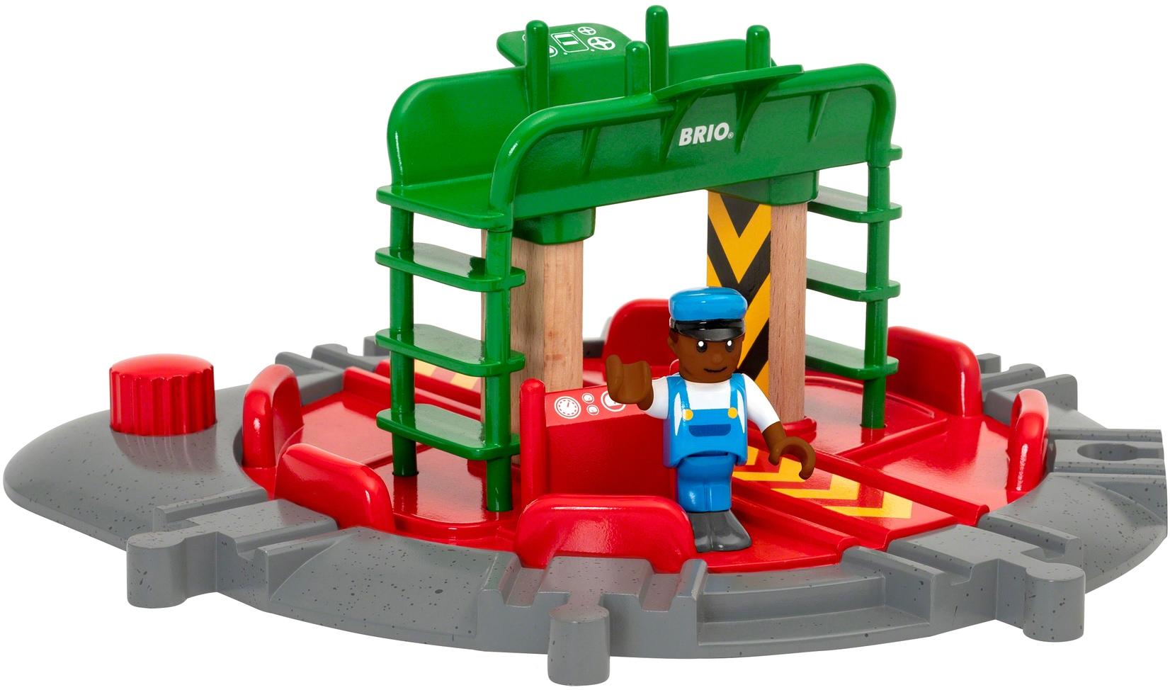 BRIO Spielzeugeisenbahn-Brücke WORLD Lok-Drehscheibe mit Kontrollbrücke bunt Kinder Kindereisenbahnen Autos, Eisenbahn Modellbau Spielzeugeisenbahn-Erweiterungen