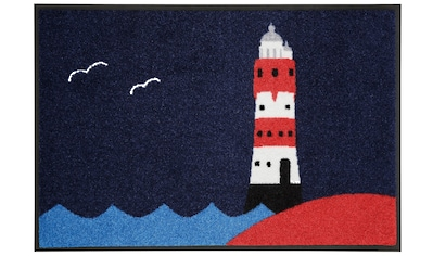 wash+dry by Kleen-Tex Fußmatte »Leuchtturm«, rechteckig, 7 mm Höhe, Schmutzfangmatte,... kaufen