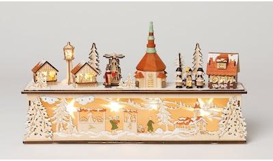 HGD Holz - Glas - Design Seiffener Weihnachtsmarkt mit Sockel kaufen