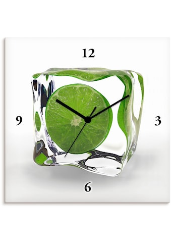 Artland Wanduhr »Limette im Eiswürfel«, lautlos, ohne Tickgeräusche, nicht tickend,... kaufen
