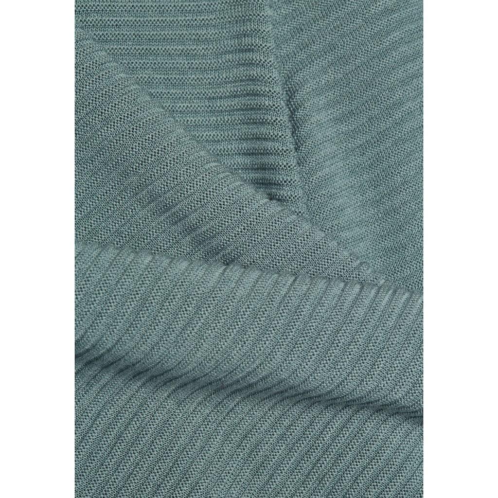 Esprit Collection V-Ausschnitt-Pullover, hinten länger