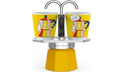 BIALETTI Espressokocher »Mini Express Lichtenstein«, (1 Espressokocher + 2... kaufen