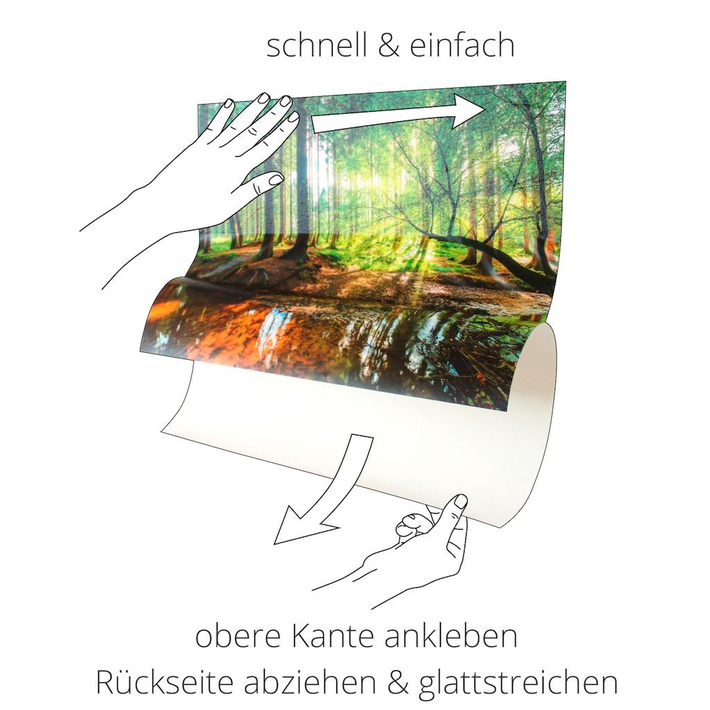 Artland Wandbild »Fensterblick Sonnenuntergang am Strand«, Strand, (1 St.), in vielen Größen & Produktarten -Leinwandbild, Poster, Wandaufkleber / Wandtattoo auch für Badezimmer geeignet