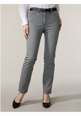 Mona 5-Pocket-Jeans, mit Logostickerei kaufen