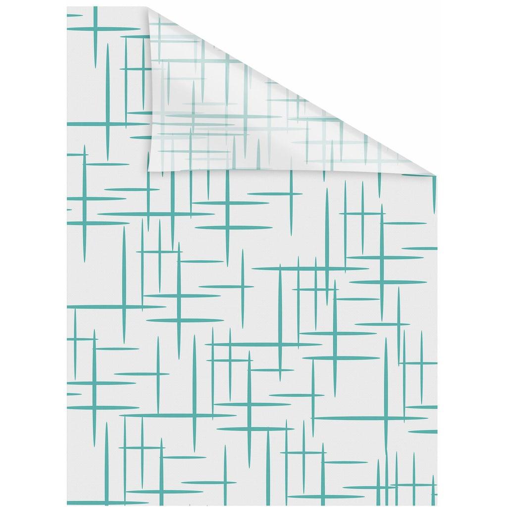 LICHTBLICK ORIGINAL Fensterfolie »Stars Petrol«, 1 St., blickdicht, strukturiertKlebepunkte, selbstklebend, Sichtschutz