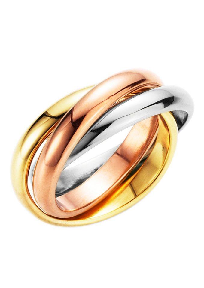 Firetti Fingerring 3-fach verschlungen tricolor | Schmuck > Ringe > Fingerringe | Firetti