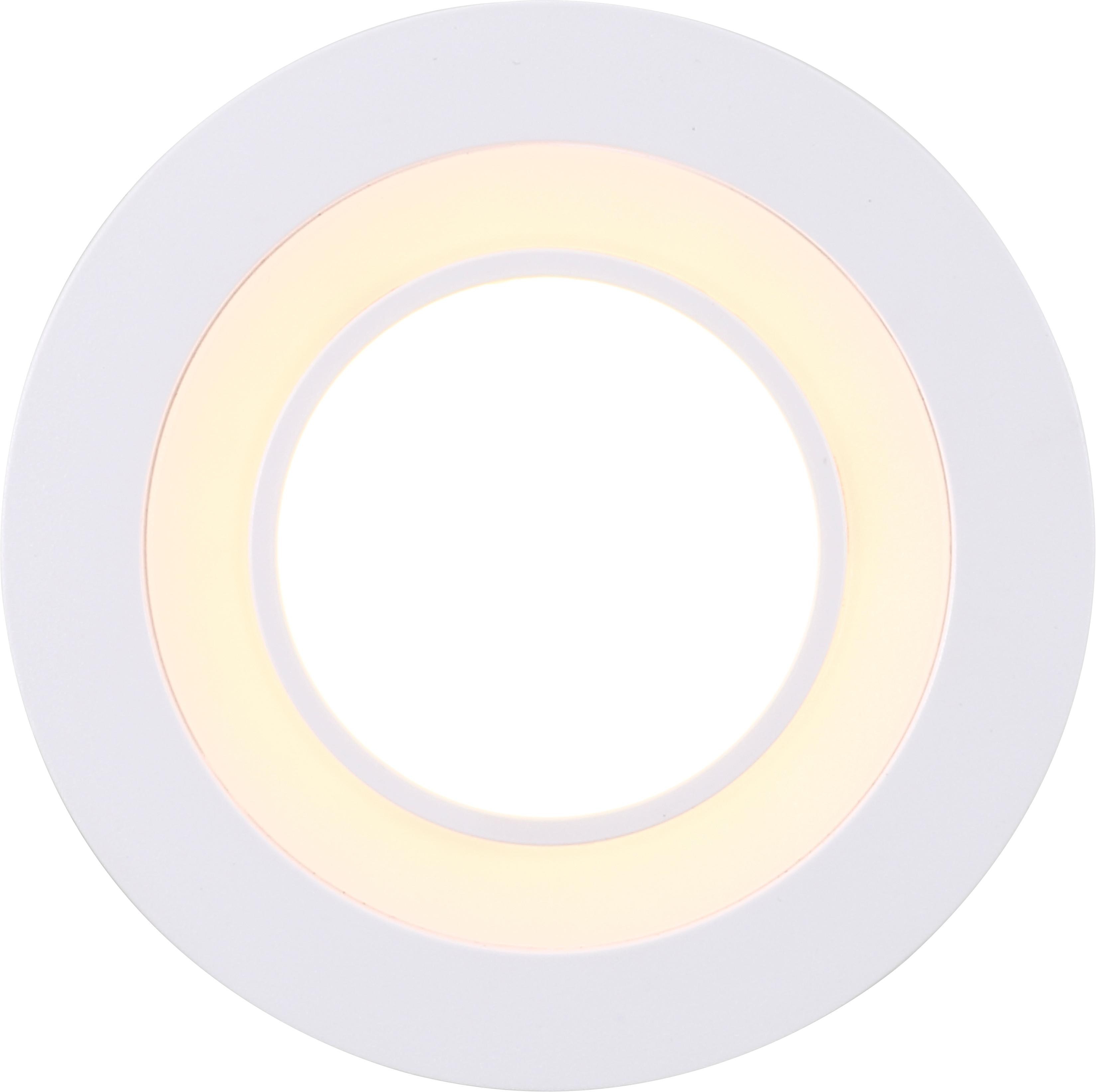 Nordlux LED Einbaustrahler 2er Set Clyde 8, LED-Board, Warmweiß, Einbauleuchte mit integriertem Dimmer