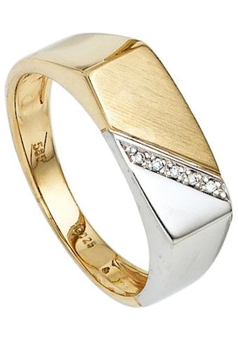JOBO Diamantring, 585 Gold bicolor mit 5 Diamanten kaufen