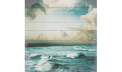 queence Holzbild »Unwetter auf dem Meer«, 40x40 cm kaufen