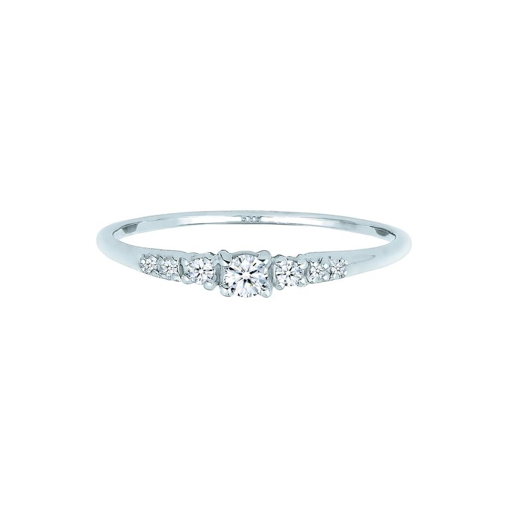 Diamore Diamantring »Verlobung Diamanten (0.14 ct) 585 Gold«