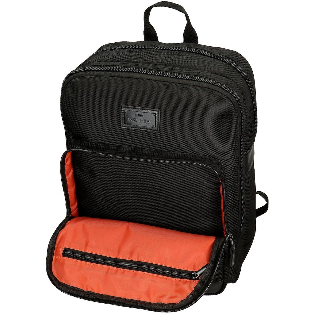 Pepe Jeans Laptoprucksack »Allblack, schwarz«