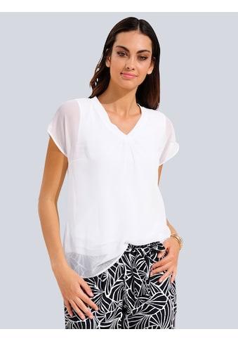 Alba Moda Bluse in transparenter Chiffonqualität kaufen