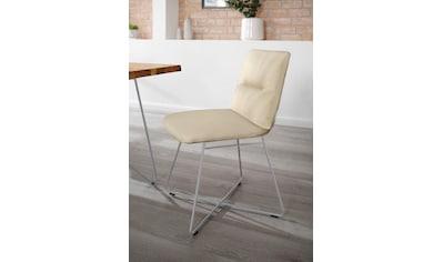 W.SCHILLIG Polsterstuhl »lotta«, 2er- oder 4er-Set, mit Rückensteppung, Drahtrohrgestell in Silber matt kaufen
