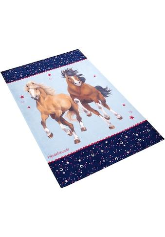 Pferdefreunde Kinderteppich »PF-510«, rechteckig, 6 mm Höhe, Motiv Pferde, Stoff... kaufen