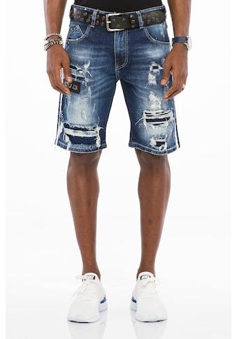 Cipo & Baxx Shorts, im modischen Destroyed-Look kaufen