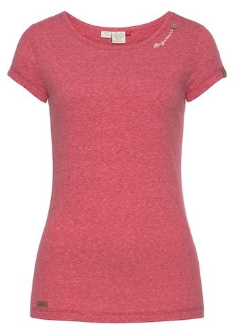 Ragwear Rundhalsshirt »MINT«, mit geschwungenem Logoschriftzug und Zierknopf in... kaufen