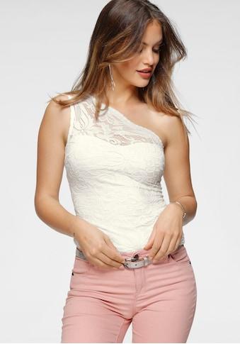 Melrose One-Shoulder-Top, aus elastischer Spitze kaufen