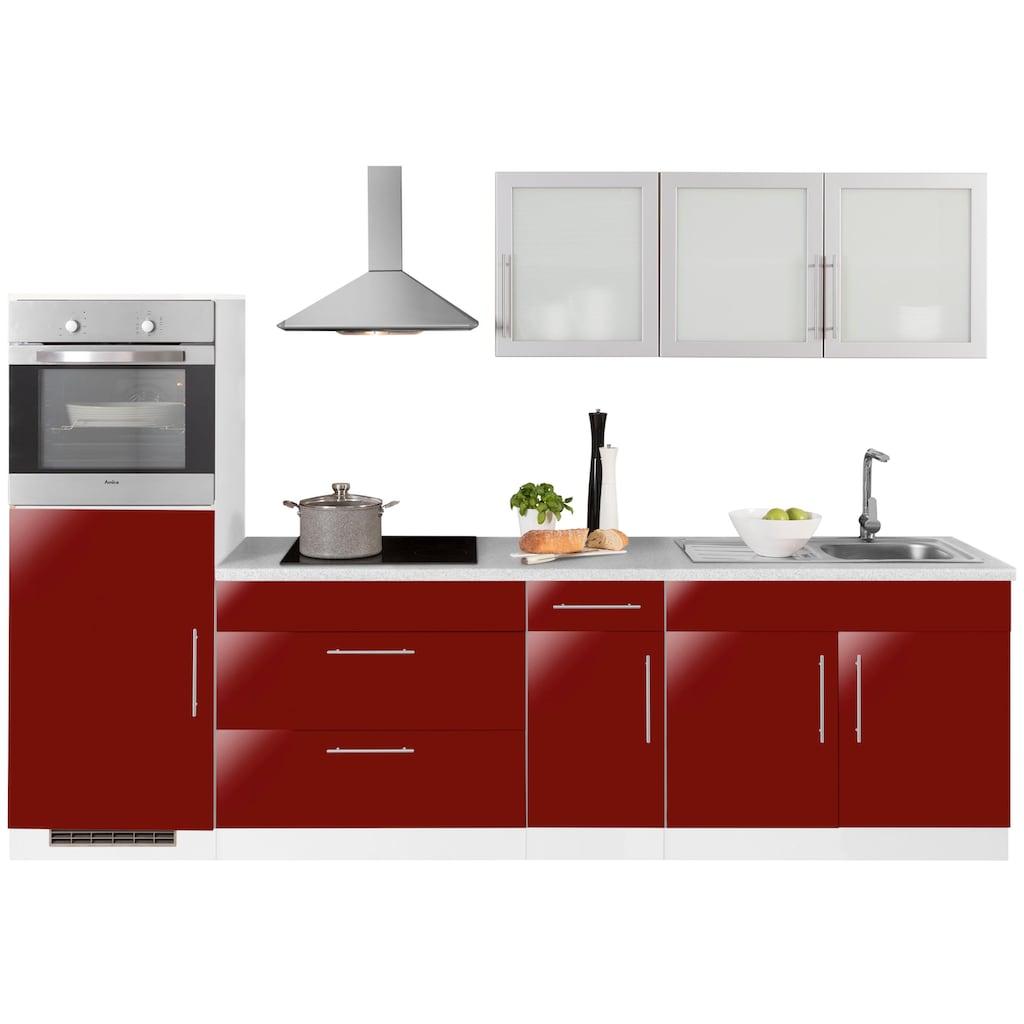 wiho Küchen Küchenzeile »Aachen«, ohne E-Geräte, Breite 290 cm